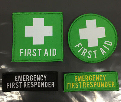 First Aid / First Responder Woven Patches / Variations /  Uniform Badges
