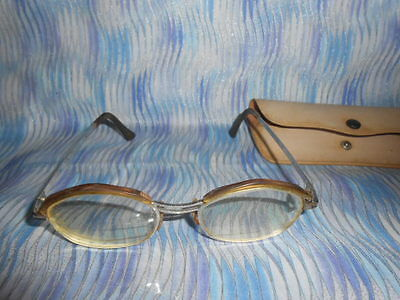 Vintage Metal/Plastic Frames Prescription Lens Glasses With Case-Pre-Owned