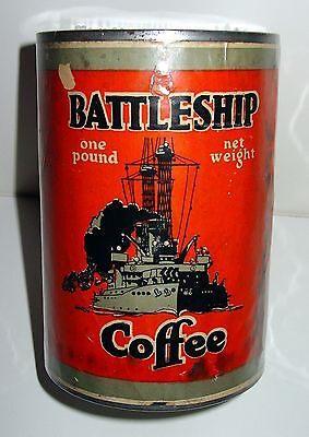Battleship Brand 1lb Coffee Tin - Canby, Ach & Canby Co. - Dayton, OH