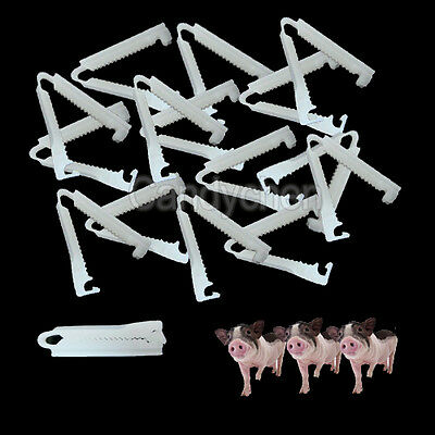 5/10/20Pcs Disposable Umbilical Cord Clamps For Veterinary Birth Whelping Puppy