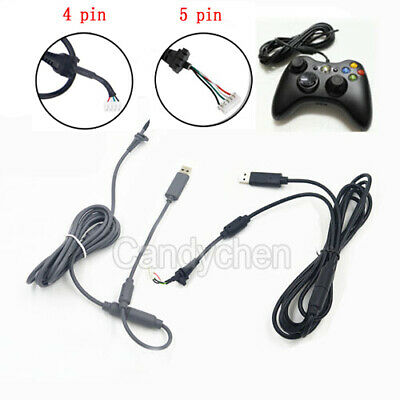 USB 4Pin Line Cord Cable +Breakaway Adapter For Xbox 360 Wired Controller Handle