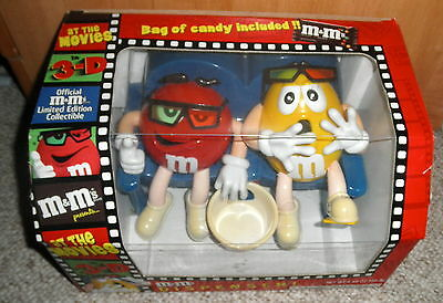 M&M CANDY DISPENSER AT THE MOVIE THEATER COUCH RED YELLOW GUYS Original box