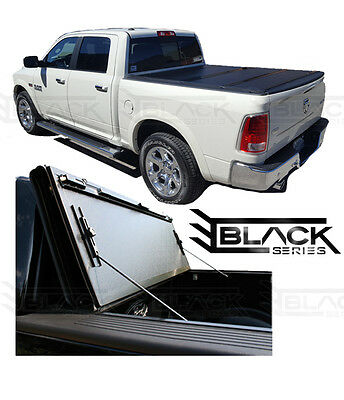 Ford F150 5.5Ft Short Box - 2015-2017 Hard Tri-Fold Cover   Solid Tonneau Cover