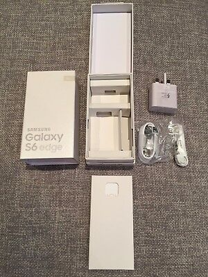 Samsung Galaxy S6 Edge Gold box only and accessories