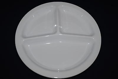 "NEW US2611 10""   3 Compartment Round Restaurant Platters 48 PC (White)"