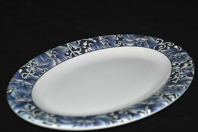"12 PC New Melamine LCP02090 L 9"" Oval Dinner Plate (9"" X6-3/8"") Lotus pattern"