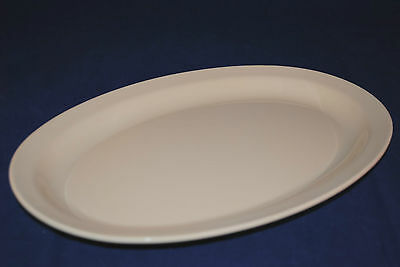 "4 Dz  MELAMINE TAN OVAL PLATTER NARROW RIM  9-1/2"" X 6-3/4""  US 510 (OP 610)"