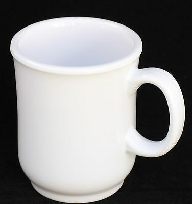 8 oz  New Melamine Coffee Mug US 477  White  4 Dozen   (48 PC)