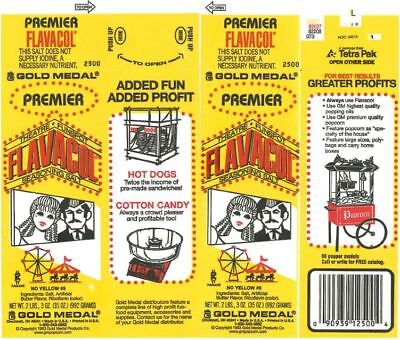 3 Premier Flavacol Butter Flavored Salt 28oz Pop Corn Topping Popcorn Topping