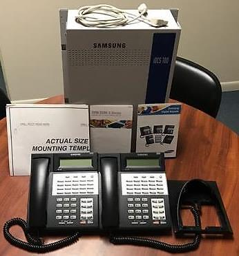 Samsung iDCS 100 Key Phone System Unit w/ Voicemail & 4 phones