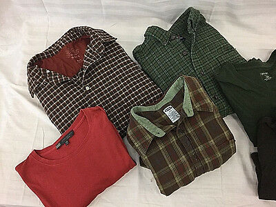 Lot of 11 Men's Flannel Shirts & T-Shirts Sz XXL