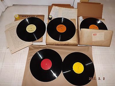 Lot of 5 Vintage CASE TRACTOR Service & Sales Records, 3 Service Film Kits