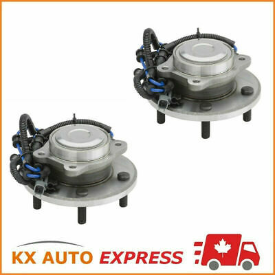 Pair of 2 New Rear Wheel Hub & Bearing Assembly Set for Left & Right Side