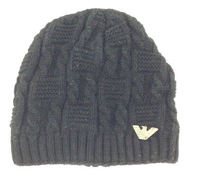 a3ff74b46124e  102 BLOOMINGDALE S Mens UNISEX BLACK RIBBED WARM WINTER HAT CAP BEANIE ONE  SIZE