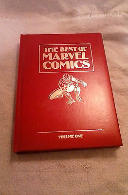 Best of Marvel Comics red leather book Wolverine exclusive Spider-Man FF