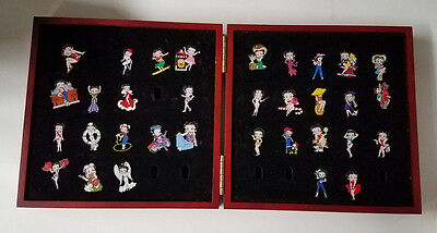 Willabee & Ward Betty Boop Enamel Pin Collection Lot of 33 with Case!