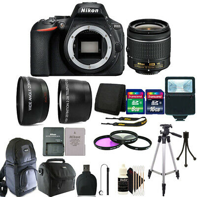 Nikon D5600 24.2 MP Digital SLR Camera with 18-55mm Lens + 24GB Accessory Kit