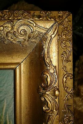 EXQUISITE  Old Vintage French PICTURE FRAME Barbola Gesso All Around