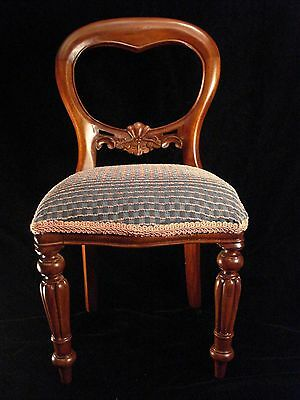 Child's / Doll Collector's Balloon Back Chair in the Victorian Style