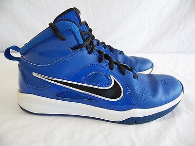 NIKE - Youth Boys Girls sz. 7Y - Blue, Black & White MID HEIGHT Basketball Shoes
