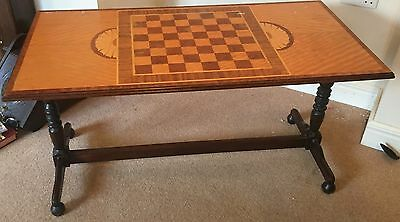 Vintage Solid Wood Coffee/Chess Table