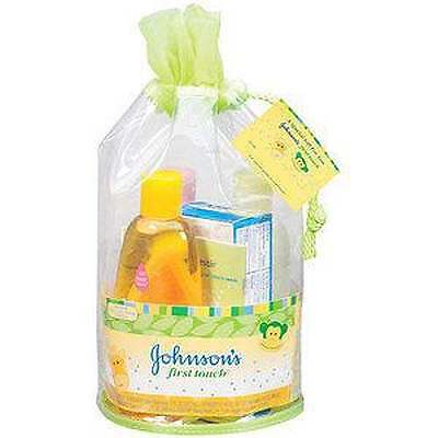 Johnson's First Touch Baby Bath Gift Set New In Bag