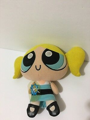"9"" Cartoon Network Powerpuff Girls Bubbles Talking Plush Doll Toy Trendmasters"
