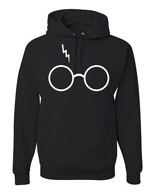 Glasses Scar Potter Fan Unisex Sweatshirt Movie Humor Hoodie