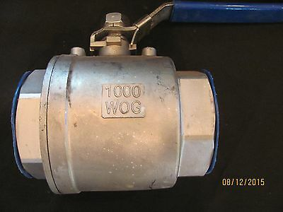 "NEW!!! Stainless Steel 3"" ball valve, lockable lever, NPT, 304 SS, 1000WOG"