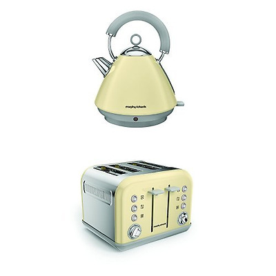 Morphy Richards 102032 Accents Pyramid Kettle and 242033 Accents 4 Slice Toaster