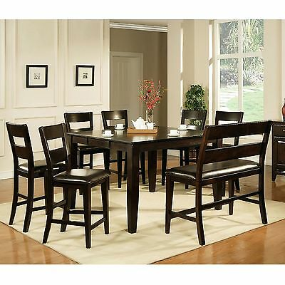 Espresso Table Dining Chairs Antique Set 6 Room Mahogany Oak Vintage