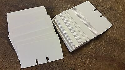 """200 Vintage Rolodex Refill 2 1/4"""" x 4"""" White Rotary File Contact Cards Office"""