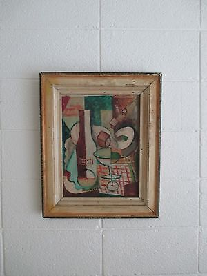 Early Cubist Original Painting art artist abstract mid century modern