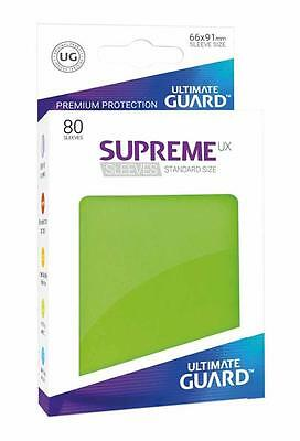 Ultimate Guard - Supreme UX Sleeves Standard Mat Light Green 80 Pieces Cases