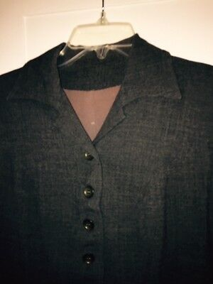 women's vintage charcoal gray wool jacket size S/M - smart!