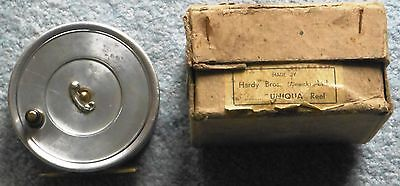 """Scarce Vintage Hardy Bros. 3 5/8"""" Uniqua """"Spitfire"""" Fly Reel Boxed Very Nice"""