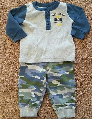 Baby Boy Two-Piece Outfit. Size 6 Months. Carter's Brand. Blue. Long-Sleeve