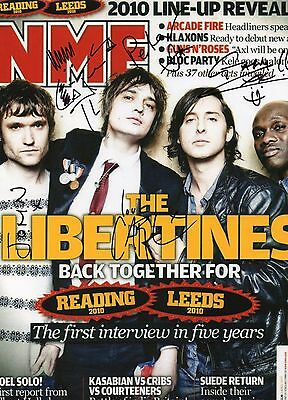 Authentic Rare The Libertines Signed 12 X 8 Nme Photo...real Signatures ...coa