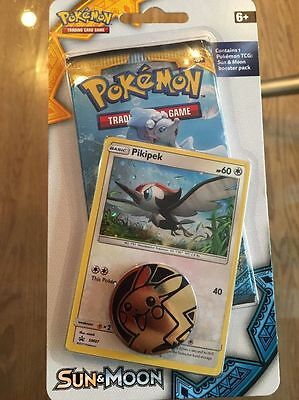 Pokémon TCG Sealed Sun & Moon Blister Pack: Pikipek Promo SM07 FREE SHIPPING