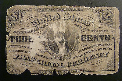 Fractional Currency 3 Cents 1863