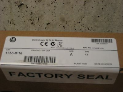 New Sealed Allen Bradley 1756-IF16 /A ControlLogix Analog Input
