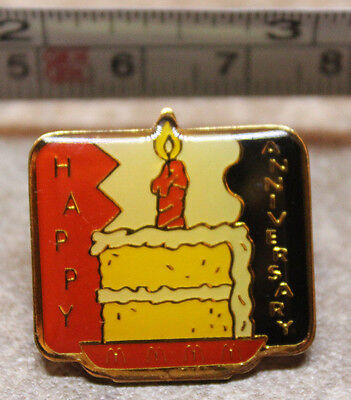 McDonalds Store Anniversary Cake Metal Collectible Pinback Pin Button