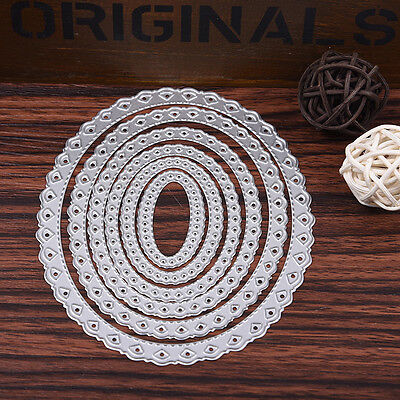 6pc Lace Oval Metal Cutting Dies Stencil For DIY Scrapbooking Card Embossing new