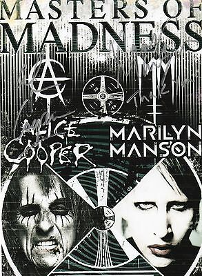 Authentic Alice Cooper + Marilyn Manson Signed 12 X 8 Photo Real Signatures.coa
