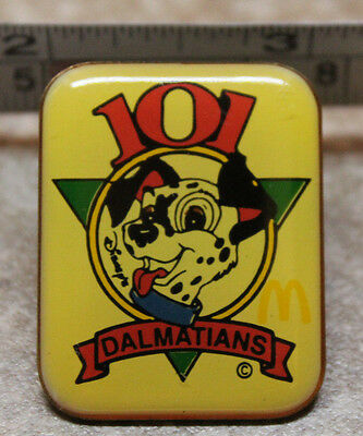 McDonalds Disney 101 Dalmations Employee Collectible Pinback Pin Button