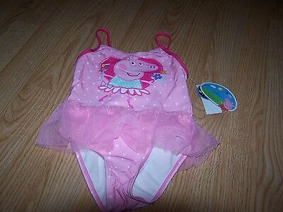 Baby Girls Peppa Pig Pink Printed Onepiece Bathing Suit Size 4T NWT