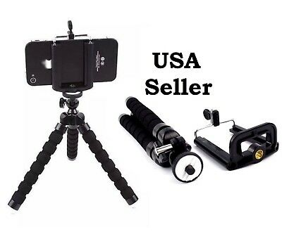 Tripod Stand Mount Flexible Mini Adjustable Octopus Holder- GoPro Camera iPhone