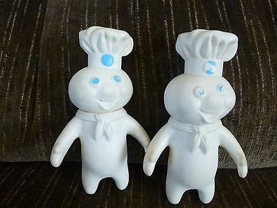 lot of 2 1971 Vintage Pillsbury Dough Boy Doll figure advertising
