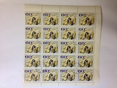 AFGHAN HOUND ** 20 Dogs Postal Stamp Sheet* Great Gift!