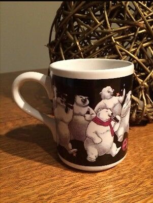 1997 Coca Cola Coffee Mug with White Polar Bear by Gibson